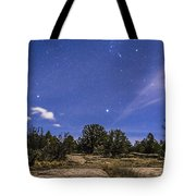 Orion And Sirius Rising Tote Bag