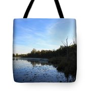 Orion's Lake At Sunset Tote Bag