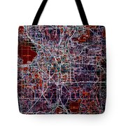 Orlando 1955 Vintage Map Colorful Tote Bag