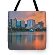 Orlando Cityscape Sunset Tote Bag