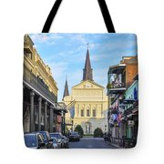 Orleans Street And St Louis Cathedral Tote Bag