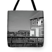 Ormond Yacht Club Black And White Tote Bag