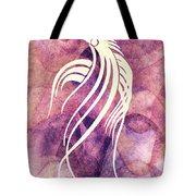 Ornamental Abstract Bird Minimalism Tote Bag