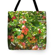 Ornamental Apples On A Tree Tote Bag
