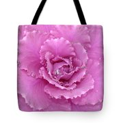 Ornamental Cabbage With Raindrops - Square Tote Bag