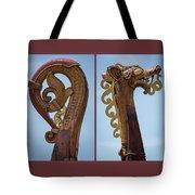 Ornamental Dragon Diptych Tote Bag