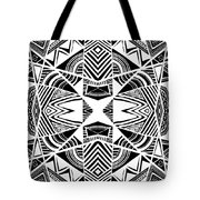 Ornamental Intersection - Abstract Black And White Graphic Drawing Tote Bag