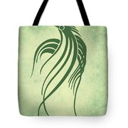 Ornamental Parrot Minimalism Tote Bag