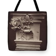 Ornamental Sculpture From The Paris Opera House (column Detail) Tote Bag