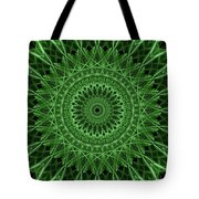 Ornamented Mandala In Green Tones Tote Bag