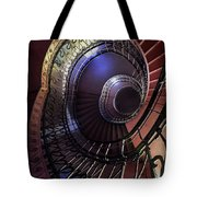 Ornamented Metal Spiral Staircase Tote Bag