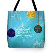 Ornaments And Snowflakes Tote Bag