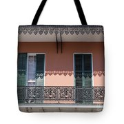 Ornate Balcony In New Orleans Tote Bag
