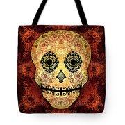 Ornate Floral Sugar Skull Tote Bag