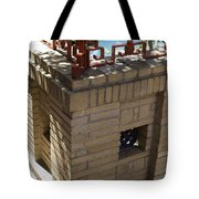 Ornate Red Iron Fence Tote Bag