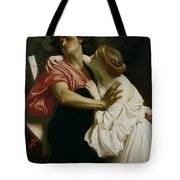Orpheus And Euridyce Tote Bag by Frederic Leighton