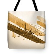 Orville Wright In Wright Flyer 1908 Tote Bag