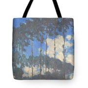 Oscar Monet   Poplars On The Epte Tote Bag
