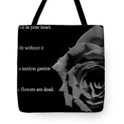 Oscar Wilde Love Quote Tote Bag
