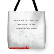 Oscar Wilde Quotes - Lady Windermere's Fan - Literary Quotes - Book Lover Gifts - Typewriter Quotes Tote Bag