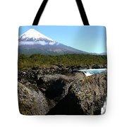 Osorno Volcano From Petrohue Falls Tote Bag