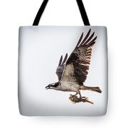 Osprey With Fish 8138 Tote Bag