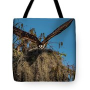Osprey Working On Nest Tote Bag