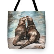 Otter Buddies Tote Bag