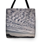 Otter Cliffs Dawn - Black And White Tote Bag