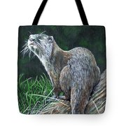 Otter On Branch Tote Bag