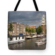 Oudeschans And Montelbaanstoren. Amsterdam. Netheralnds. Europe Tote Bag