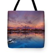 Oulu Moonrise Panorama Tote Bag