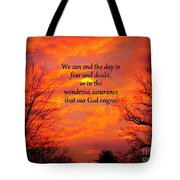 Our God Reigns Tote Bag
