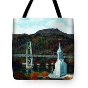 Our Lady Of Mt Carmel Church Steeple - Poughkeepsie Ny Tote Bag