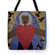 Our Lady Of Sorrows Tote Bag by Angela Yarber