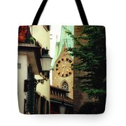 Our Ladys Minster Church In Zurich Switzerland Tote Bag