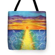 Our Lives Are Like Bubbles That Float On A Sea - Illustration #17 In The Infinite Song Tote Bag