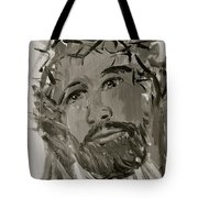 Our Lord Cries In Black And White Tote Bag