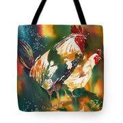 Our Neighbors Roosters Tote Bag