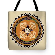 Ouroboros With Devine Fire Wheel Tote Bag