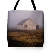 Out Building In The Fog Tote Bag