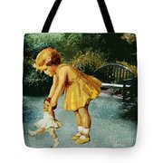 Out For A Stroll In The Garden Tote Bag