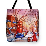 Out For A Walk With Mom Tote Bag
