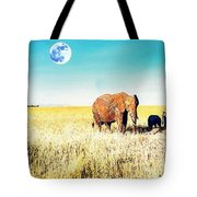 Out In The Serengeti Tote Bag