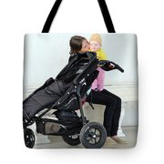 Out Of The Baby Stroller -- A Mother And Daughter Tote Bag