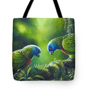 Out On A Limb - St. Lucia Parrots Tote Bag