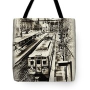 Outbound Train Tote Bag