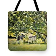Outbuilding At Oriskatach New York Tote Bag