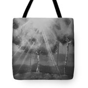 Outburst B And W Tote Bag