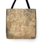 Outdoor Cafe Scene Tote Bag